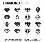 vector line diamond icons set... | Shutterstock .eps vector #525988870