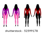 illustration of silhouettes of... | Shutterstock . vector #52599178