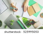 woman with various creative... | Shutterstock . vector #525995053
