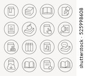 book thin line icon set | Shutterstock .eps vector #525998608