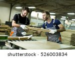 young workers work in a factory ... | Shutterstock . vector #526003834