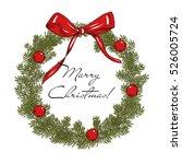 merry christmas collection. fir ... | Shutterstock .eps vector #526005724