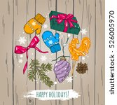 new year and christmas set ... | Shutterstock .eps vector #526005970