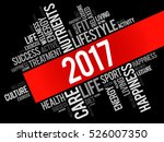 2017 word cloud collage  health ... | Shutterstock .eps vector #526007350