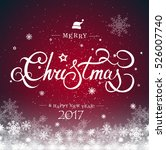 christmas typography ... | Shutterstock .eps vector #526007740