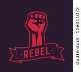 rebel  t shirt design  print ... | Shutterstock .eps vector #526011073