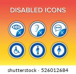disabled icon. disabilities... | Shutterstock .eps vector #526012684