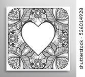 heart frame  openwork filigree...   Shutterstock .eps vector #526014928
