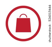 flat red shopping bag icon in... | Shutterstock . vector #526015666