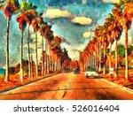vintage california view oil...   Shutterstock . vector #526016404