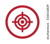 flat red target icon in circle... | Shutterstock . vector #526016839