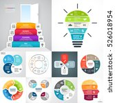 vector circle infographic set.... | Shutterstock .eps vector #526018954