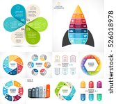 vector circle infographic set.... | Shutterstock .eps vector #526018978