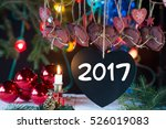 black heart and decorations for ... | Shutterstock . vector #526019083