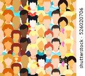 seamless pattern man  woman ... | Shutterstock .eps vector #526020706