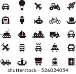 set of transport black icons | Shutterstock .eps vector #526024054