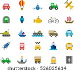 set of transports color flat... | Shutterstock .eps vector #526025614