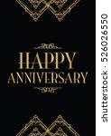 happy anniversary art deco... | Shutterstock .eps vector #526026550