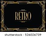 retro art deco invitation | Shutterstock .eps vector #526026739
