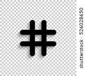 hashtags   black vector icon ... | Shutterstock .eps vector #526028650