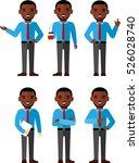 illustration of business... | Shutterstock .eps vector #526028740
