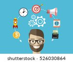 businessman or office worker... | Shutterstock .eps vector #526030864