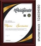 certificate template letter... | Shutterstock .eps vector #526034080