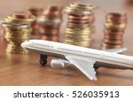 Small photo of pilots strike collective agreement airplane with money