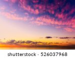 Colorful Idyllic Sunset Over...
