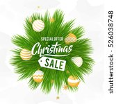 christmas sale vector design... | Shutterstock .eps vector #526038748