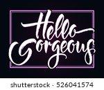 modern calligraphy... | Shutterstock .eps vector #526041574