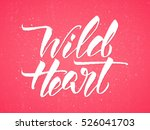 """wild heart""   typographic..."