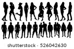 woman and man silhouettes | Shutterstock .eps vector #526042630