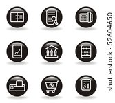 set of 9 glossy web icons  set... | Shutterstock .eps vector #52604650