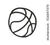 basketball balloon isolated... | Shutterstock .eps vector #526047370