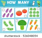 counting game for preschool... | Shutterstock .eps vector #526048054