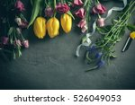 beautiful flowers and florist... | Shutterstock . vector #526049053