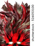 rooster feathers. carnival mask ...   Shutterstock . vector #526053100