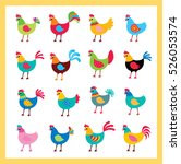 beautiful chicken vector... | Shutterstock .eps vector #526053574