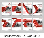 red technology collection set... | Shutterstock .eps vector #526056310