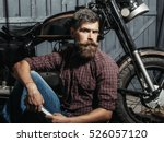 Bearded Man Hipster Biker...