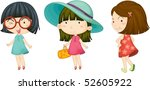 illustration of a girls on a... | Shutterstock .eps vector #52605922