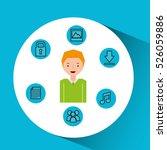 character man technology social ... | Shutterstock .eps vector #526059886