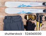 overhead view of ski... | Shutterstock . vector #526060030