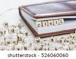 word civil written on a wooden... | Shutterstock . vector #526060060
