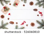 christmas background with... | Shutterstock . vector #526060810