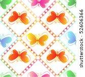 butterfly seamless pattern. | Shutterstock .eps vector #52606366