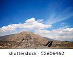 Piramide de la Luna, Teotihuacan, Mexico - stock photo