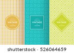 bright retro seamless pattern... | Shutterstock .eps vector #526064659