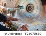 close up hand of stone mason... | Shutterstock . vector #526070680
